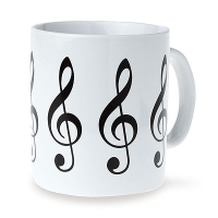 Set de 6 Mugs - Clef de Sol