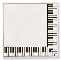 Serviettes en Papier - Touche de Piano