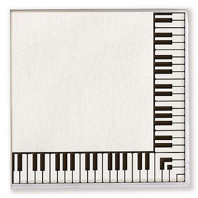 20 Serviettes en Papier - Touche de Piano