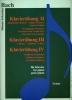 Bach, Jean-S�bastien : Bach - Klavierubung II-IV - Exercices Pour Piano - Concerto Italien, Ouverture Francaise, 4 Duets, Variations Goldberg