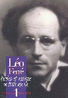 Ferré, Léo : L'Intégrale de 1943 - 1954 - Volume 1