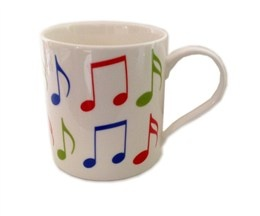 Fine China Mug - Allegro (Music Notes)
