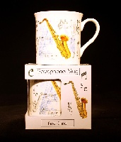 Fine China Mug - Saxophone Design