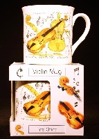 Fine China Mug - Violin Design