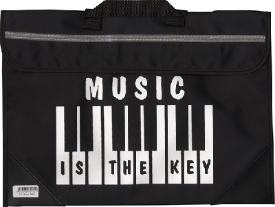 Sacoche De Musique Clavier/Piano - Music Is The Key (Noire)