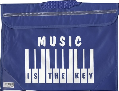Sacoche De Musique Clavier/Piano - Music Is The Key (Bleue)