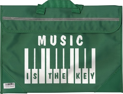 Sacoche De Musique Clavier/Piano - Music Is The Key (Verte)