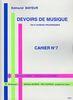Mayeur, Edmond : Devoirs De Musique - Cahier 7