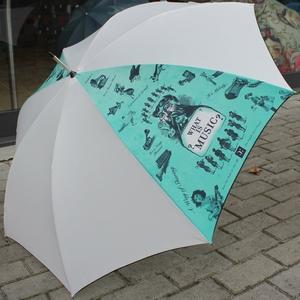 Parapluie Luxe - Motifs Musicaux - Blanc [Umbrella - Musical Umbrella (white)]