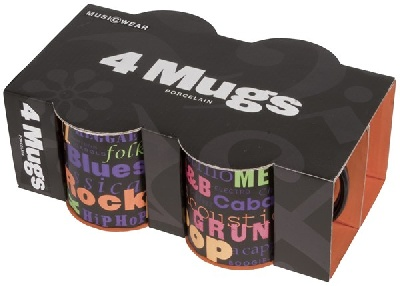 Set de 4 Mugs - Music Genre