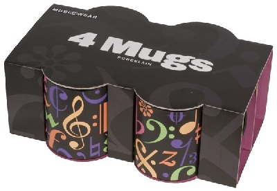 Set de 4 Mugs - Music Symbols
