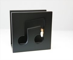 Letter Holder - Black Quavers