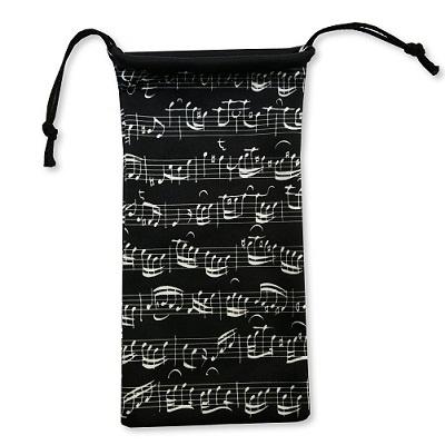 Glasses Case Sheet Music Black