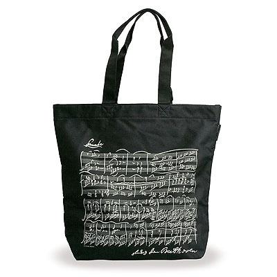 Sac en Tissu - Grandes Anses - Sonate de Beethoven (Noir)