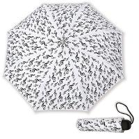 Parapluie de Poche Blanc Clef de Sol Noire