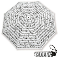 Parapluie de Poche - Port�e (Blanc / Notes Noires)