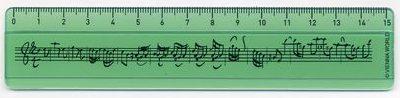 Règle Portée Verte 15 cm