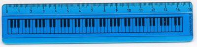 Règle Touche de Piano Bleue 15 cm