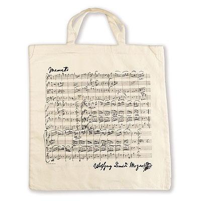 Sac en Tissu - Menuet de Mozart (Blanc Naturel)
