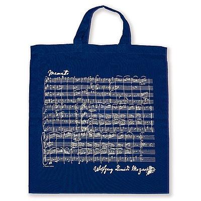 Sac en Tissu - Menuet de Mozart (Bleu Marine)