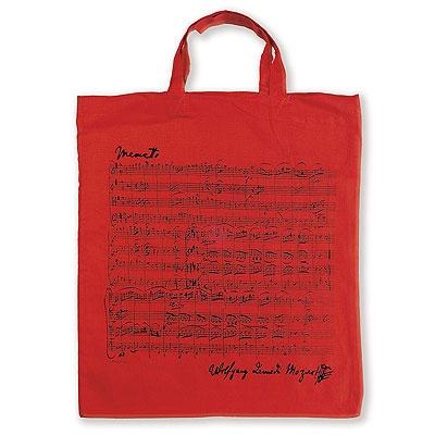Sac en Tissu - Menuet de Mozart (Rouge)