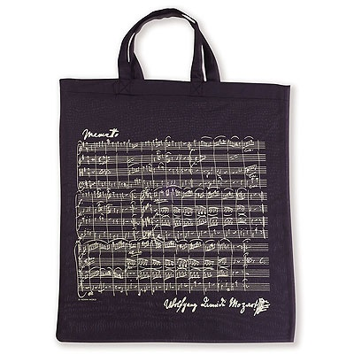 Sac en Tissu - Menuet de Mozart (Noir)