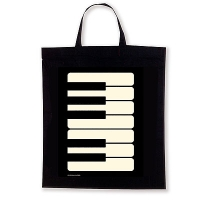 Sac Tissu - Touche de Piano - Noir