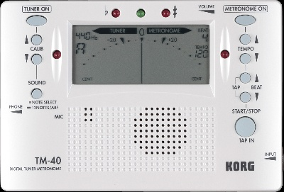 Multifonction : Accordeur - Metronome Korg TM40 (Blanc)