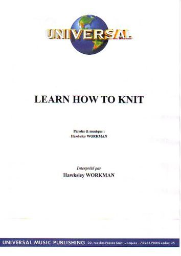 Workman, Hawksley : Learn How To Knit