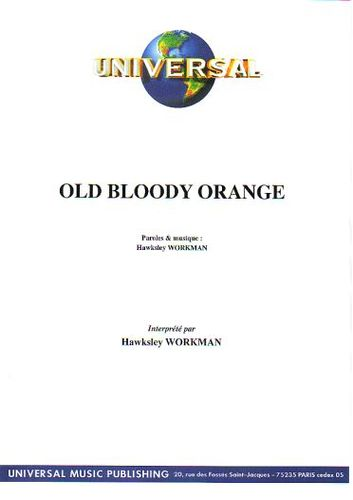 Workman, Hawksley : Old Bloody Orange