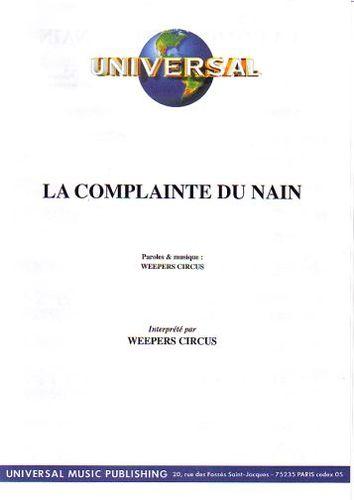 Weepers Circus : La Complainte Du Nain