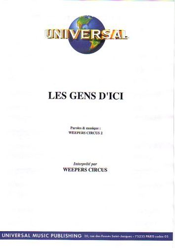Weepers Circus : Les Gens D'Ici