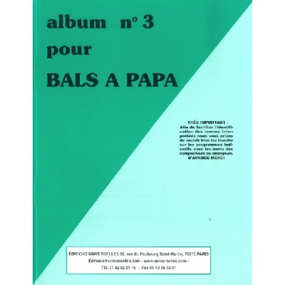 Album Pour Bals À Papa N°3