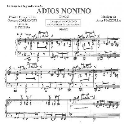 Piazzolla, Astor : Adios Nonino – Pigmalion