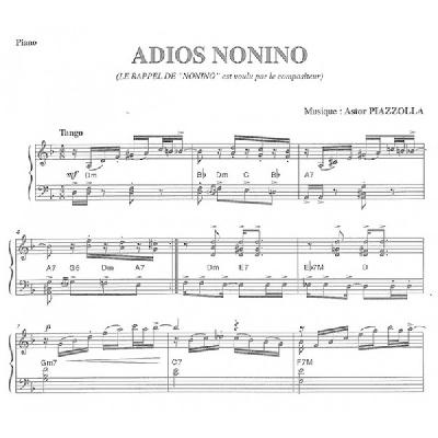 Piazzolla, Astor : Adios Nonino ? Milonga Del Angel