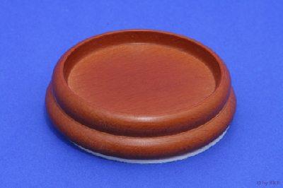 Isolateur en Bois - Couleur Merisier - 90mm avec Feutre - Diamètre Intérieur 65mm