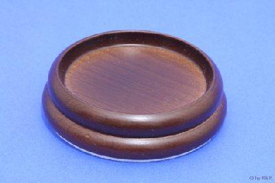 Isolateur en Bois - Couleur Noyer Moyen - 90mm avec Feutre - Diamètre Intérieur 65mm