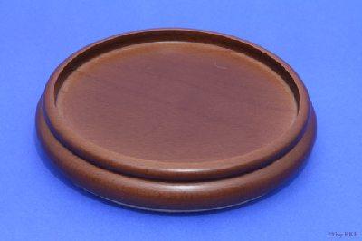 Isolateur en Bois - Couleur Noyer - 160 mm avec Feutre - Diamètre Intérieur 135 mm