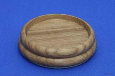 Isolateur en Bois - Chêne Clair - 90mm avec Feutre - Diamètre Intérieur 65mm