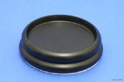 Isolateur en Bois - Noir Mat - 90mm avec Feutre - Diamètre  Intérieur  65mm