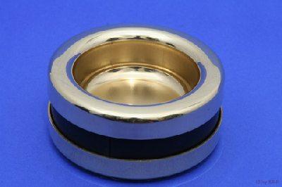 Piattino : Coupelle en Laiton avec Isolation Phonique pour Piano Droit et à Queue - Diamètre Intérieur 67.5 mm - Diamètre Extérieur 99 mm