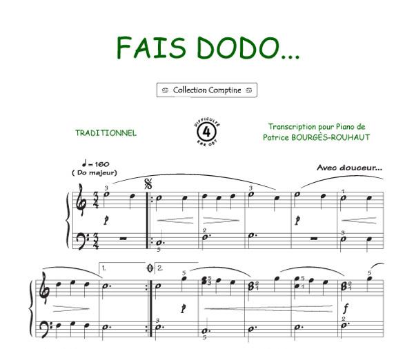 partition musique comptine