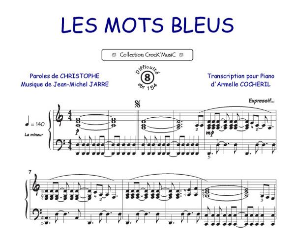 partition guitare 4 mots sur un piano